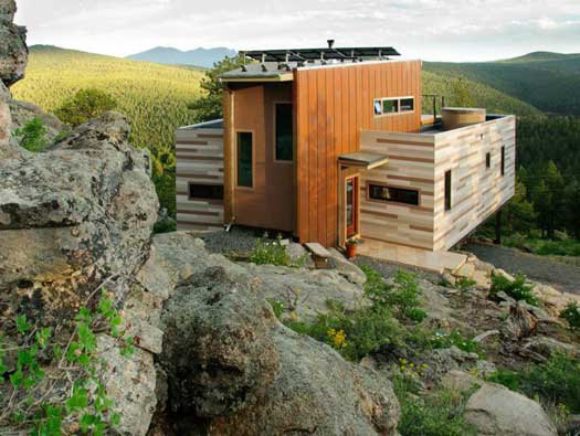 Studio H:T designed this shipping container home on Nederland, Colorado.  Shipping Container from Amazing Examples of Shipping Container Architecture