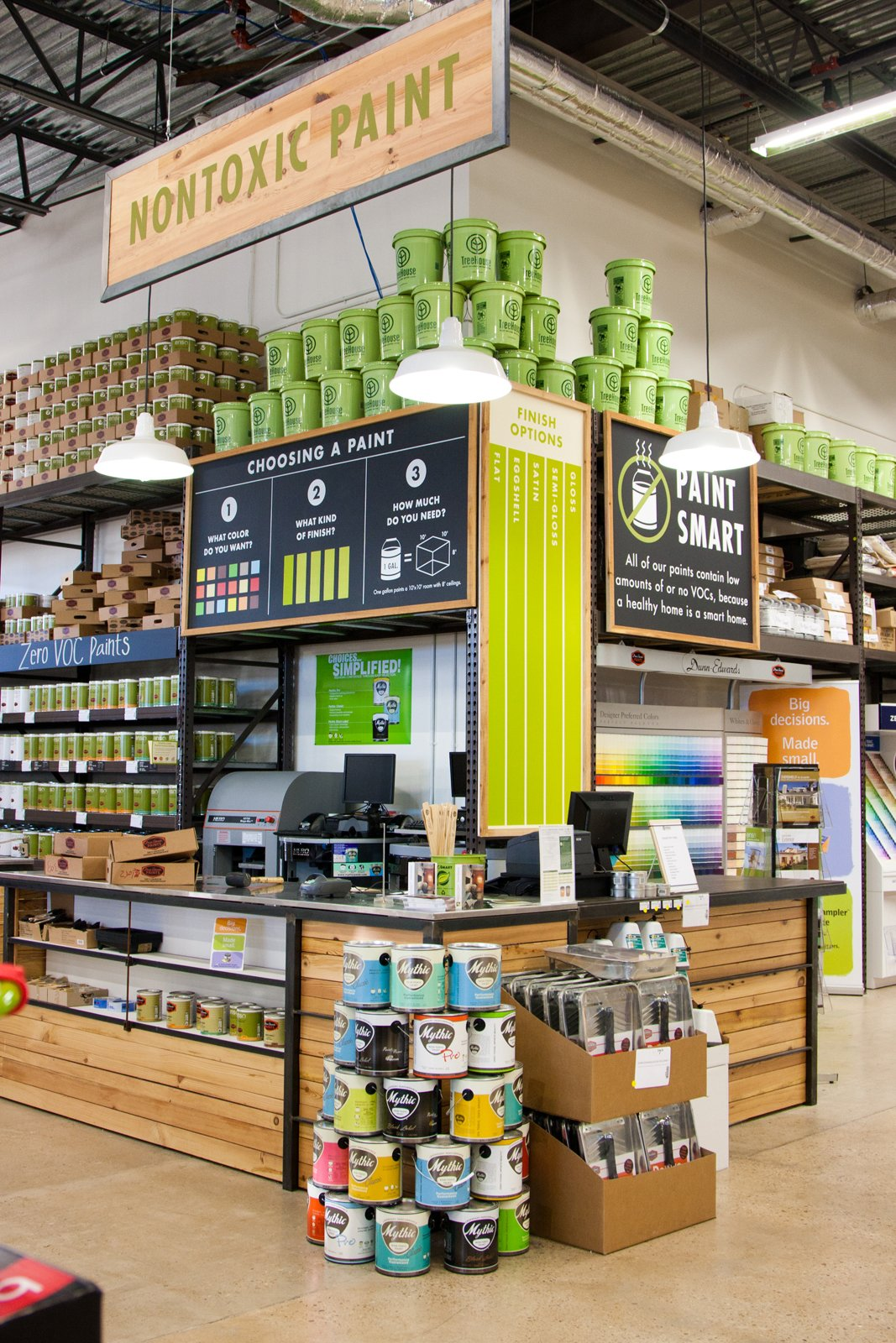 """The paint zone. On our tour, Sutphin waved a hand towards the wall and said, """"A lot of stores wanting to say they care about green will stop at paint. But having a healthy home is more than a coat of paint.""""  Photo 3 of 8 in A New Kind of Hardware Store: TreeHouse"""