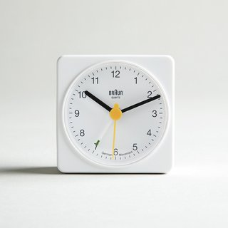 A square that will fit into nearly any small space, the retro yet modern Braun alarm clock is a must-have for anyone who travels. With its crescendo alarm, you will never miss another flight again. ($30)