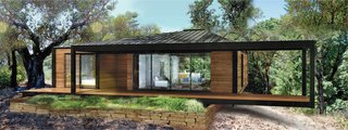 The first built project by Connect: Homes is a Connect 5.2 prefab for a couple in Sonoma, California. The 1,600-square-foot model, sided in cedar, offers two bedrooms and two baths for a base price of $280,000, including delivery, installation, and necessary sitework.