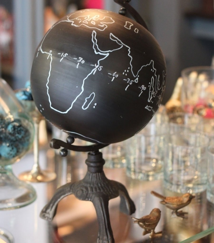 The chalkboard globe from Catbird is perfect for any creative soul—the outline of countries is painted on permanently, but the globe's chalkboard feature allows for artistic expression. ($112)  Dwell Holiday Gift Guide: For the One Who's Got It All by Dwell