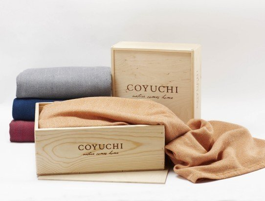 Bedlinen maven Coyuchi has just released the coziest of cozy holiday gifts - an organic wool herringbone blanket crafted in Maine by Brahms Mount, packaged in an eco-friendly wood box. ($438-$1,098)  Dwell Holiday Gift Guide: For the One Who's Got It All by Dwell