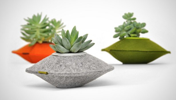 Made from 100-percent recycled felt, Flip & Tumble's fuzzy saucer pods are sure to bring that special someone's green thumb out. ($14)  Dwell Holiday Gift Guide: For the One Who's Got It All by Dwell