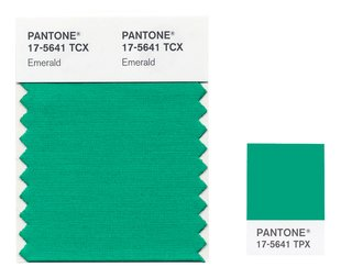 A color swatch and color chip of Pantone's 2013 Color of the Year.
