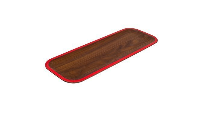 These trays designed by David Rasmussen are functional Danish modern art for your table. Available in hard walnut and maple, each plate is trimmed with a slick pop of color and finished with food-safe oil. Use this tray as a sleek way to serve up holiday hors d'eouvres or simply as a centerpiece for the table.  Editors' Picks from the Dwell Shop: Holiday Edition by Dwell