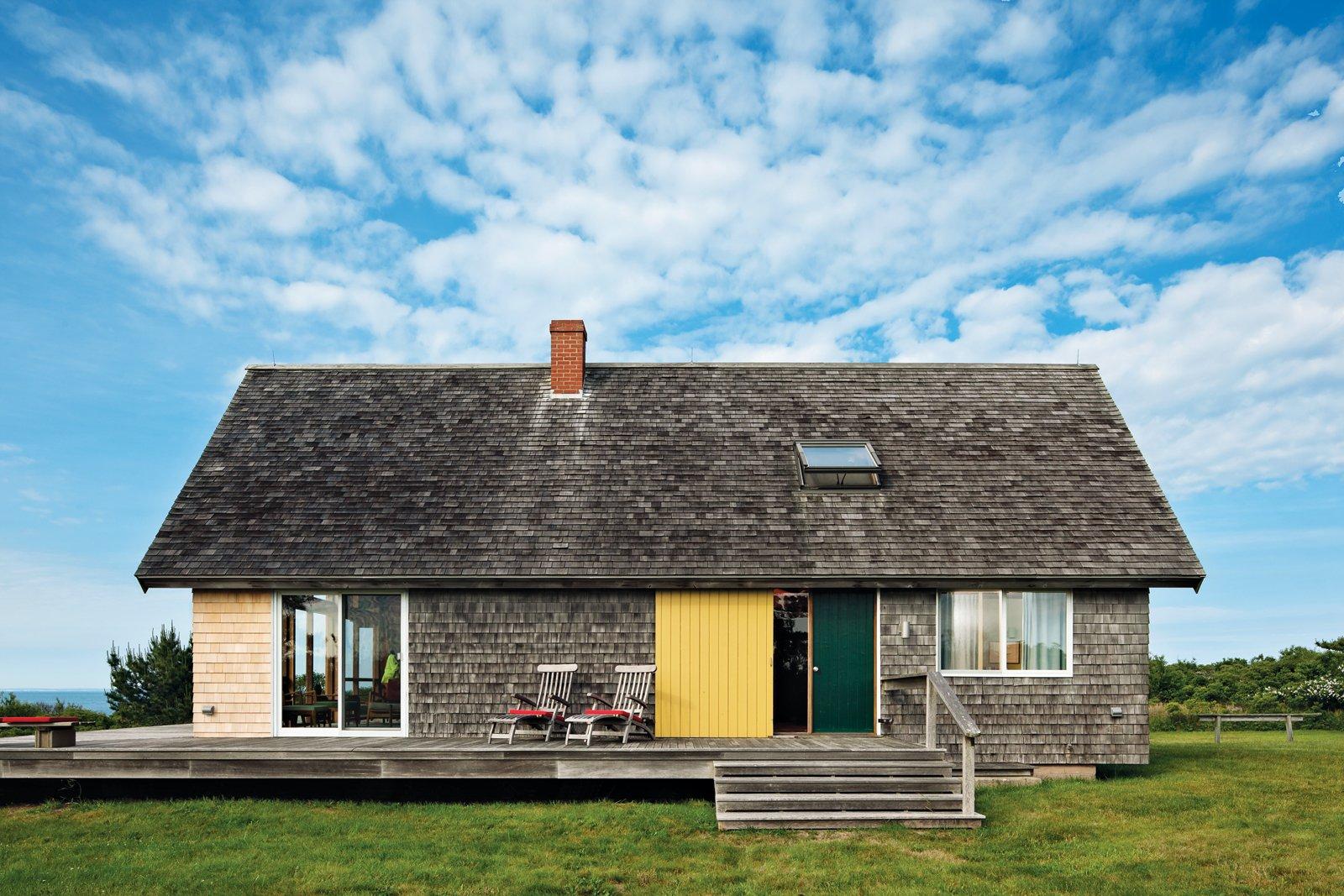 jens risom block island modern prefab vacation home a frame exterior