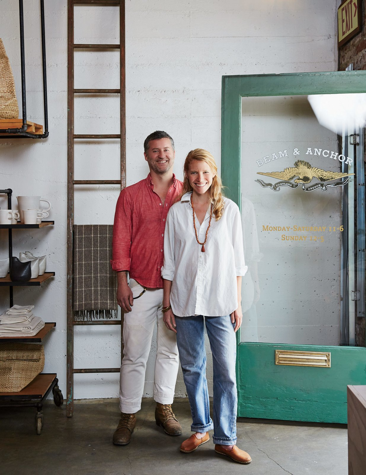 In addition to the retail space, cofounders Robert and Jocelyn Rahm run an incubator-like workshop for local makers on the upper floor, from which most of the store's furniture is sourced.  Modern Spaces in the Pacific Northwest by William Lamb from A Portland Store That Hosts Workshops for Local Craftsmen and Makers