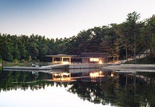 A Modern Lakeside Boathouse in Ontario
