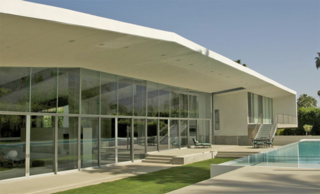 Desert Canopy House, the first net-zero energy house in Palm Springs. Photo courtesy Sander Architects.