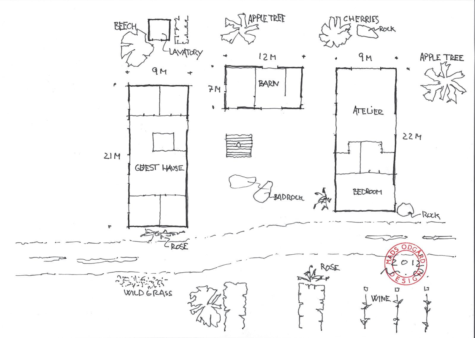 A look at Truedatorp's floor plan.  Photo 12 of 12 in Modern Meets Traditional in a Swedish Summer House