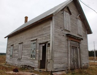 "Pictured is the structure before it was updated by MacKay-Lyons. ""[The schoolhouse was] from the village next to where I grew up,"" he says. ""I couldn't bear to see it fall down."""