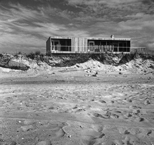 "Lambert House on Fire Island, 1961. (Copyright Richard Meier & Partners)  ""I think it has been modified quite a bit—I haven't been there in many years but I don't know if one would recognize it."" Any architecture hunters willing to take up the challenge?  Photo 3 of 10 in Richard Meier's Practice at 50"