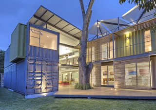 Finished in 2013, the 3,660-square-foot Casa Incubo was built from stacking and sliding four shipping containers to create a residence and gallery for photographer Sergio Pucci (who took all the photos of his new home). Set on flat ground, the two-story structure ended up being much easier for architect Maria Jose Trejos to complete than a typically constructed home, saving roughly 20 percent of the cost of a standard concrete block design.