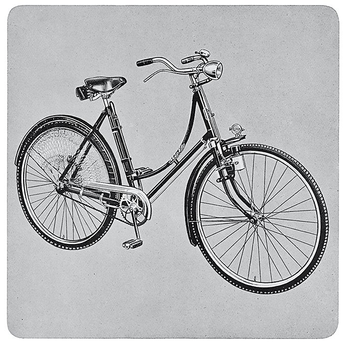 1924 - The production of bicycles starts at Miele's new factory in Bielefeld, Germany.  Bicycle, Bicycle