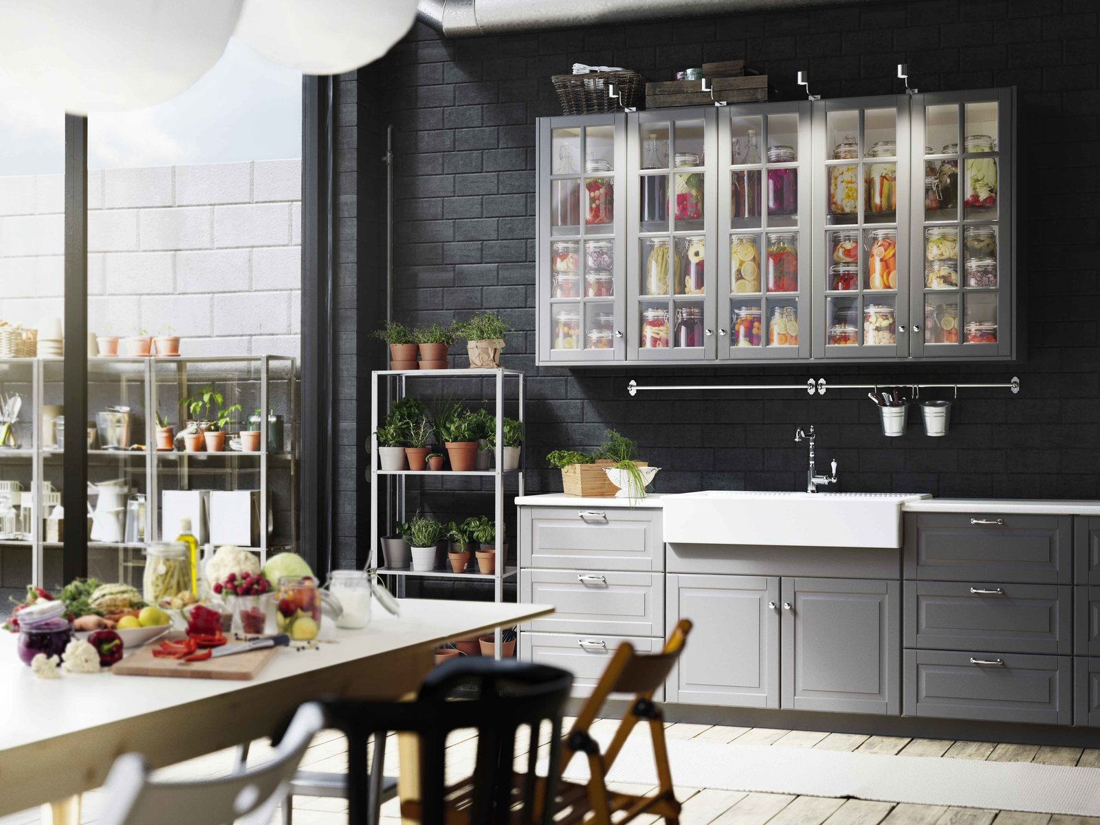 Some companies offer specialty self-leveling paints that are designed specifically for repainting kitchen cabinets.  Photo 5 of 7 in You Can Now Build Your Entire Kitchen with IKEA (Appliances Too!)
