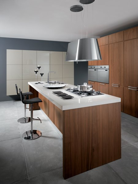 The floor-to-ceiling storage and simple finishes in Scavolini's Reflex kitchen leave plenty of room for culinary art to be the primary flourish within the spare space. For color lovers, lacquered options are available in brighter hues.