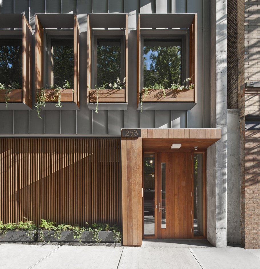 The design of Brooklyn's historical brownstones heavily influenced the three newly constructed duplexes on Pacific Street.  Photo 1 of 2 in It's Not Too Late: Submit Your Brooklyn Or Los Angeles House for the Dwell Home Tours from Call for Dwell Brooklyn Home Tour Submissions