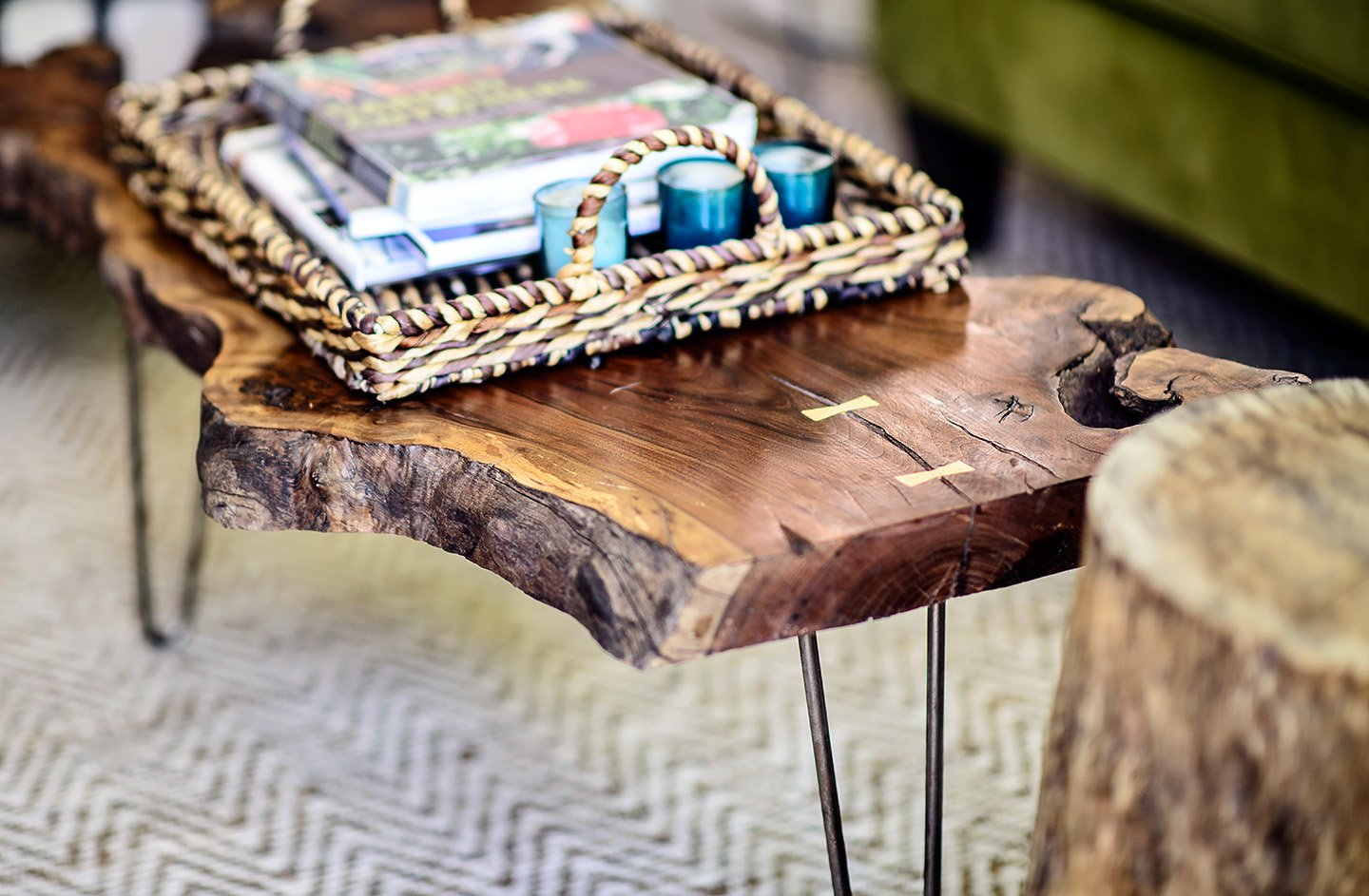 The Fresno table is among Cain's signature live-edge tables.  Photo 1 of 6 in Upcycled Furniture from a Los Angeles Studio