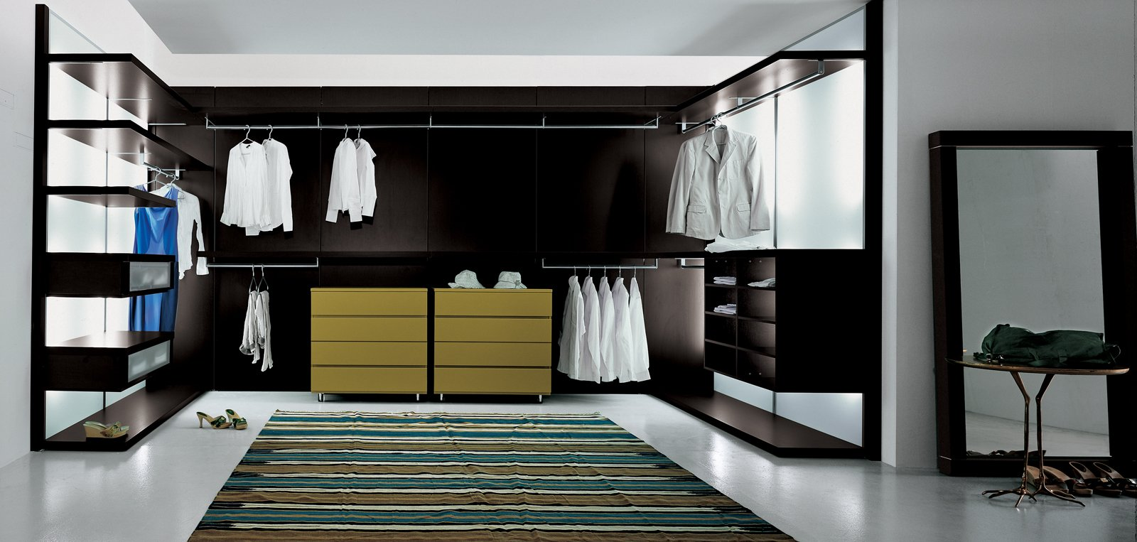 Anteprima by Pianca / pianca.it  Read our   Dwell Reports on closet systems from the June 2009 issue  Photo 9 of 10 in 10 Modern Walk-In Closets from More Closet Cases