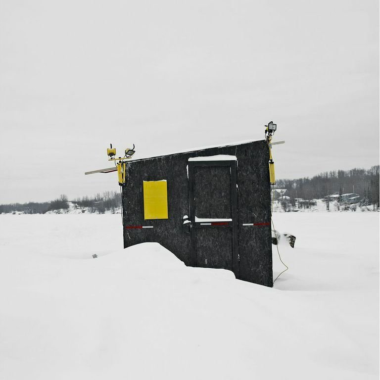 Charlie Lake, Fort St. John, British Columbia, 2015  Photo 3 of 14 in Architecture Off the Grid: Quirky Ice Huts Dot Canada's Frozen Lakes