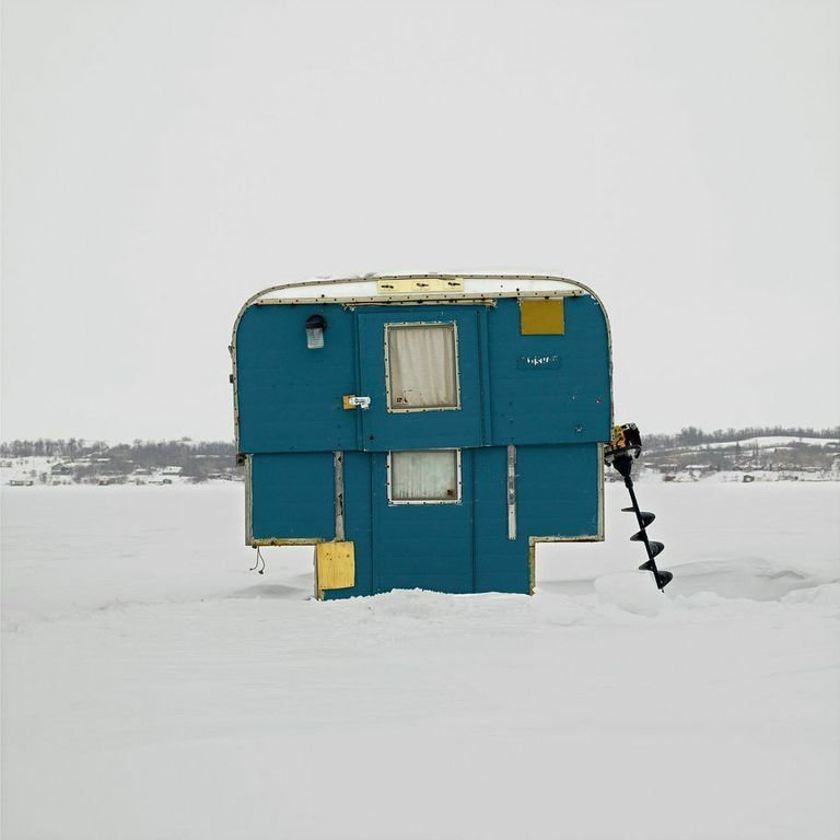 Regina Beach, Last Mountain Lake, Saskatchewan, 2011  Photo 6 of 14 in Architecture Off the Grid: Quirky Ice Huts Dot Canada's Frozen Lakes