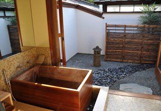 This Owner Created An Enclosed Garden To Enjoy His Soaking Tub, Enhancing  The Feel Of