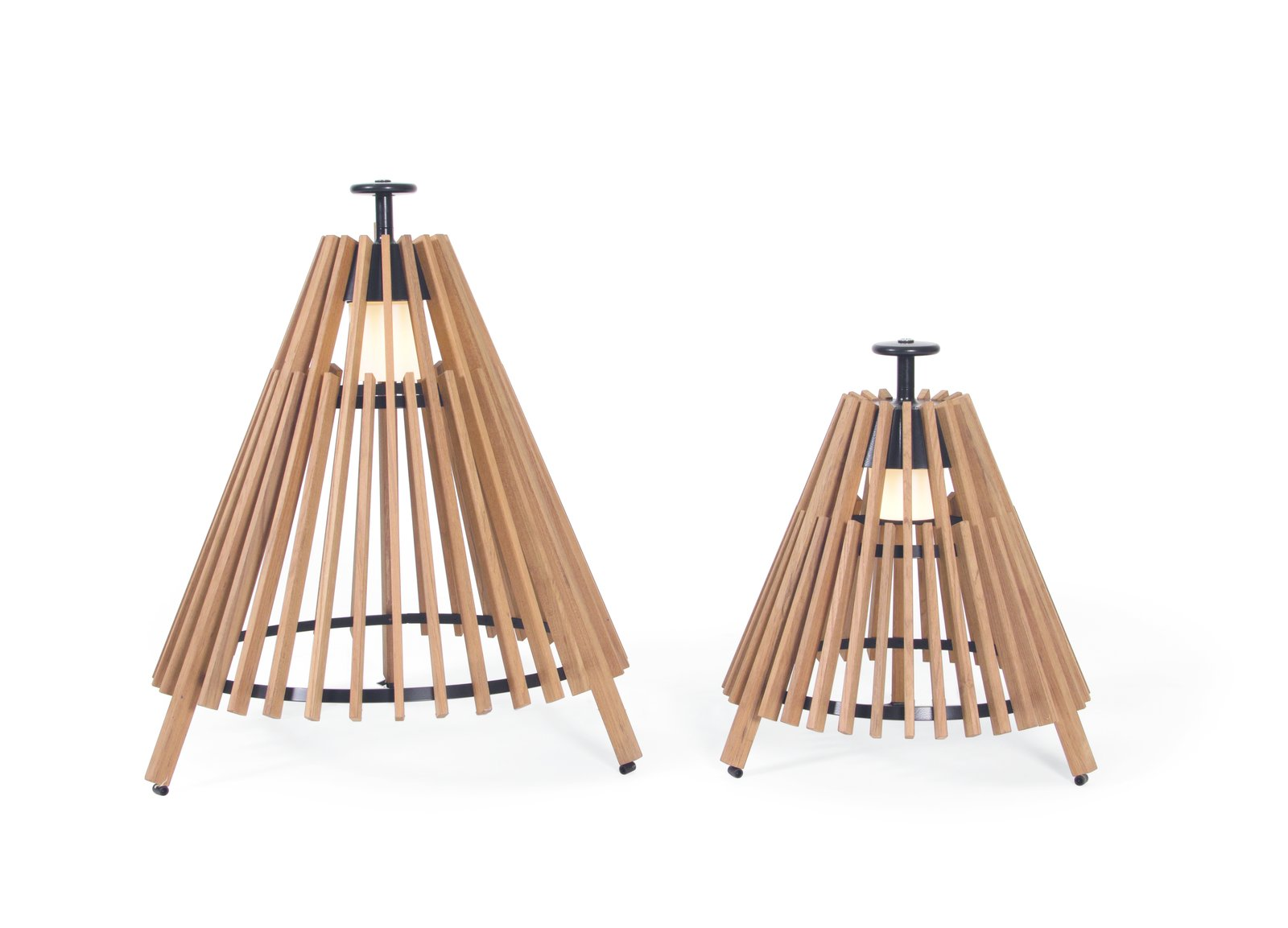Leisure furniture producer Skargaarden has collaborated with Swedish lighting designers Mårten och Gustav Cyrén at company Atelje Lyktan to create the Tipi lamp for outdoor use. The tent-like shape is made in teak and stainless steel with an aluminum handle.  On the Scene at Stockholm Design Week 2013 by Marianne Johnsgård
