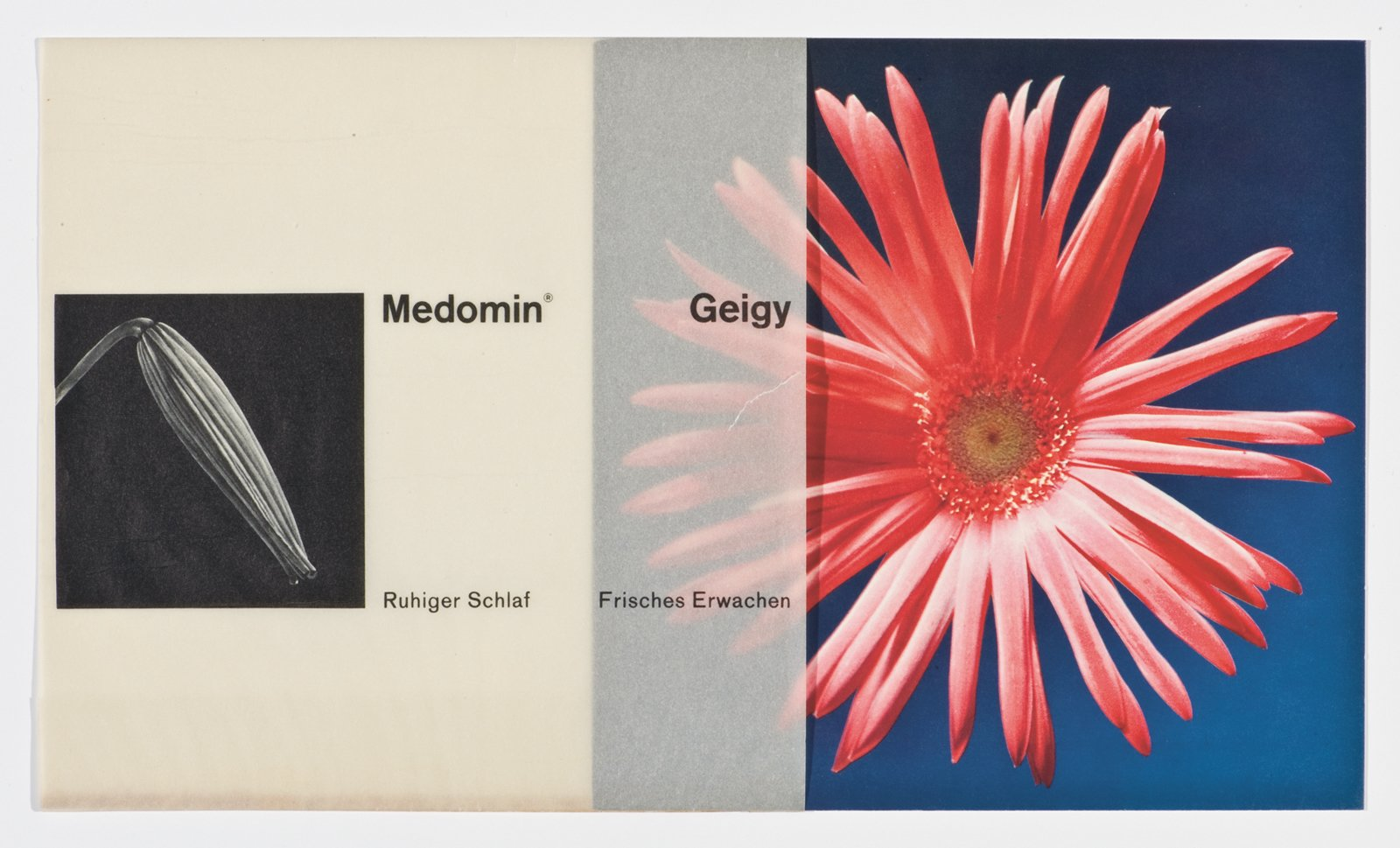 This advertising card designed by Roland Aeschlimann appeared in 1963.  Geigy's Graphic Design  by Dwell