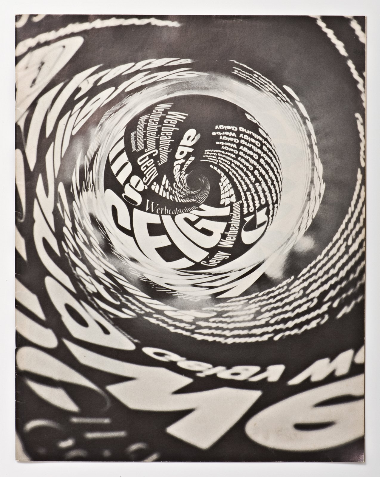 This brochure from 1966 by Stephan Geissbühler shows Geigy's quick inclusion of the psychadelia popular at the time.  Geigy's Graphic Design  by Dwell