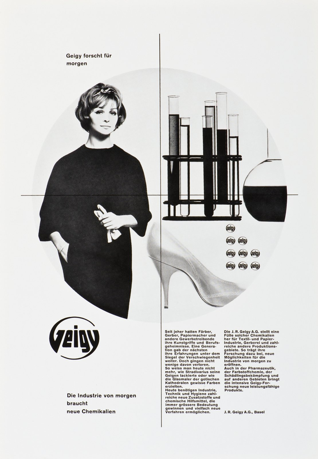 This poster by Nelly Rudin is from the early 60s.  Geigy's Graphic Design  by Dwell
