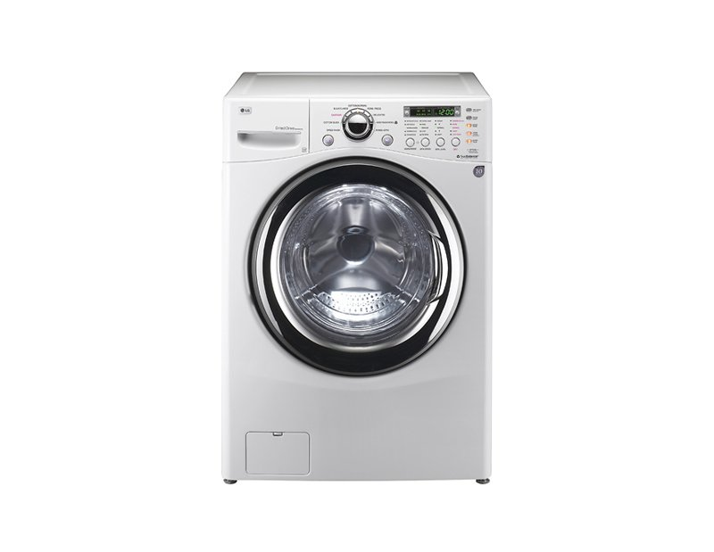 The ultimate luxury for apartment dwellers, this LG Washer and Dryer Combo is ideal for limited space situations where no external venting source is available, and the full-size tub means you won't have to compromise on capacity. No quarters needed.  Perfect Pieces for Small Space Living by Megan Hamaker