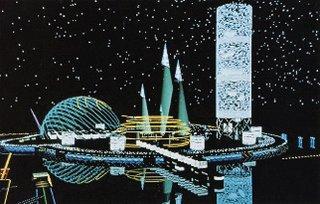 Bernard Tschumi's perspective drawing for a Spartan Villa.