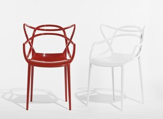 Masters chair (prototype) by Philippe Starck for Kartell. Can you spot the silhouettes of the Eames, Saarinen and Jacobsen classics?