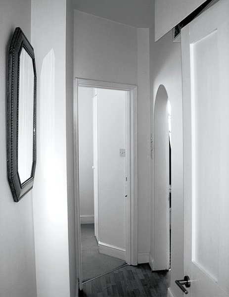 Molineus replaced a corridor with more expansive spaces.  Photo 7 of 14 in An American Ex-Pat Renovates a Tiny London Apartment on Her Own Terms