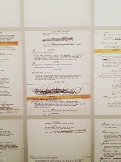 Scribbles and edits on The Killing (1956) manuscript.