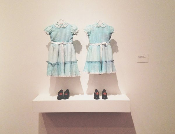 The original dresses and shoes of the Grady sisters.