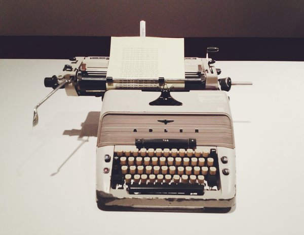 The Adler typewriter Jack Torrance (played by Jack Nicholson) used to type with.