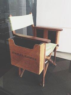 Kubrick's wooden director's chair.