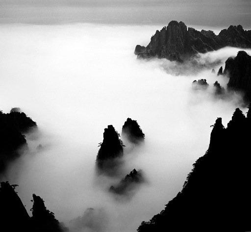 Twin Bamboo Shoot Peak, taken at the back slope of Turtle Peak in 1984  Photo 6 of 9 in Celestial Seasons