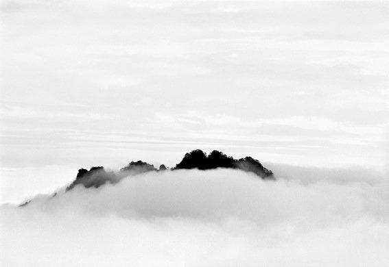 Sleeping Figure Peak, taken at Cloud Dispelling Pavilion in 1984  Photo 7 of 9 in Celestial Seasons