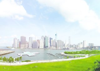 The +POOL concept aims to bring a giant floating pool to the East River of Manhattan. It will filter up to a half million gallons of river water each day, and serve as a public amenity.