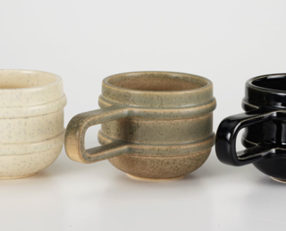 100xbtr  100xbtr produces L.A.-made goods that are timeless in look, yet modern in execution. The firm uses 3-D printers to create the mold that is used for the slip casting of their ceramic mugs.