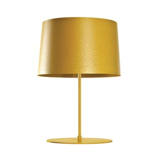 "This thin stick of a table lamp, standing trim on its fiberglass base, comes in four colors for every fashionista—and its innovative, reflective light ""diffuser"" spreads a warm glow throughout the room. A supermodel for future lamp design. Read more about the Twiggy Table Lamp here."