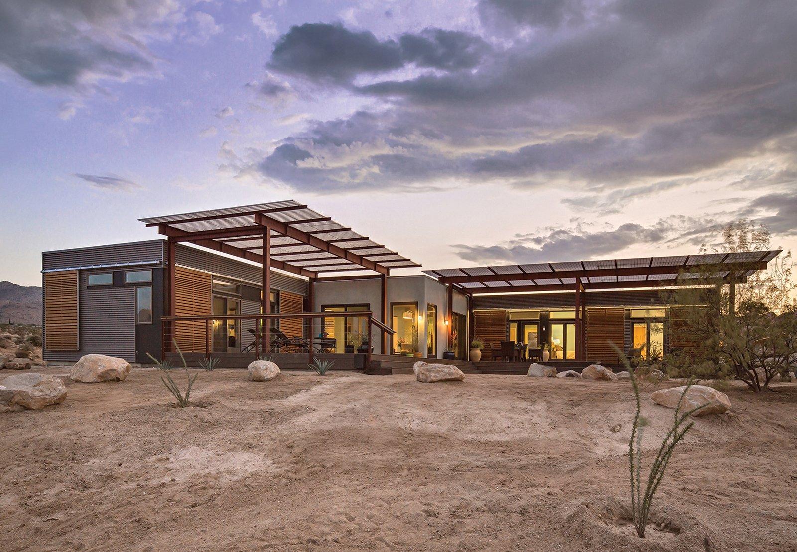 modern desert prefab home exterior