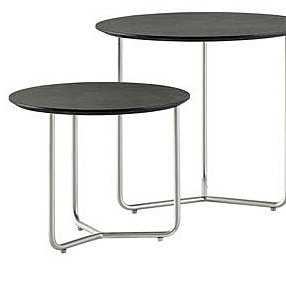 The lightweight MDF top of this side table from BoConcept can be lifted off its wire base to double as a tray—perfect for entertaining!