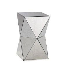 The angled stylings of this faceted mirror side table from West Elm make it contemporary with just the right amount of edge.