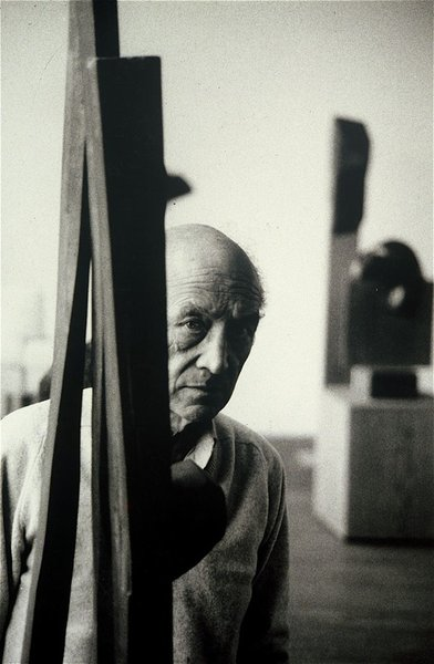 "The late, prolific Japanese-American artist and landscape architect Isamu Noguchi was the subject of photographer Richard Schulman's last black and white photo. Says Schulman, ""We were like water and oil in his studio, but when it came time for him to choose from thousands of images for a mini Pace Gallery retrospective, he chose this image. One of my proudest moments."" See more of Schulman's photos here. (Pin)"