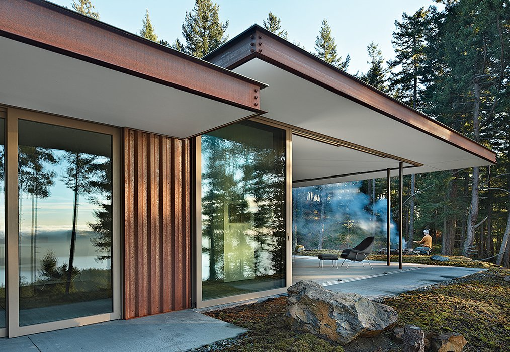 Architect Gary Gladwish designed a house on Orcas Island, Washington, for his mother, Marie, an artist. With wide, open planes, the home incorporates lasting solutions for all mobility stages.  Photo 1 of 8 in Architects Dream Up Truly Inviting Housing Options for Aging Population