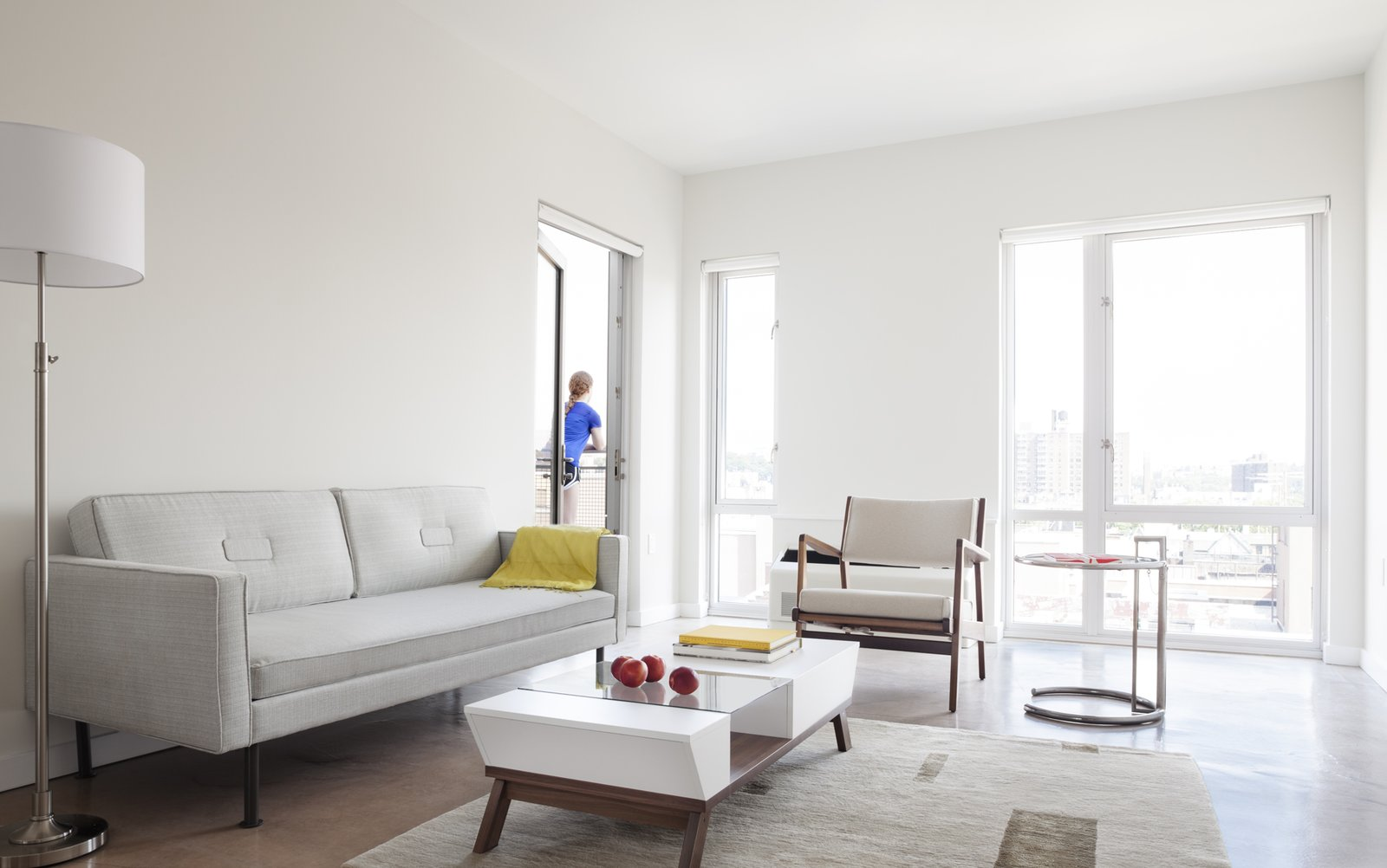 """Inside, one-, two-, and three-bedroom apartments are available, as well as studios. The majority of the fixtures were fabricated off-site.  Search """"madrid couple remake apartment one their childhood buildings"""" from It Took Less Than a Month to Assemble this Entirely Modular Apartment Building in NYC"""