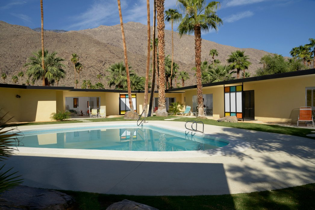 A courtyard like this is just begging to hold a party. Photo by Dan Chavkin.  A Crash Course in Palm Springs Architecture from Palm Springs Modernism Week: The Cocktail Hour with Dwell